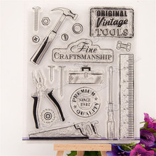 all kinds of tool Design Transparent Stamp DIY Scrapbooking for wedding gifr christmas gift paper card RM-095