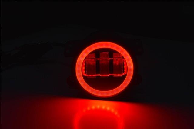 FADUIES 2PCS DOT 4Inch Round Wrangler Led Fog Light 30W 6000K White Halo Ring DRL Off Road Fog Lamps For Jeep Wrangler JK TJ LJ (2)