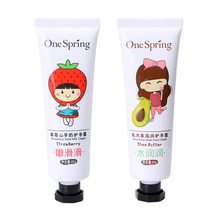 Shea Butter Cute Hand Cream Firming Skin Whitening Moisturizing Exfoliate Moisture + Strawberry Goat Milk hand skin care cream(China)