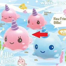 2017 NewBrand Kawaii Cute Squishy Pink Whale Millie Cartoon Collectible Squeeze  Elasticity Stretch Vent Bread Cake Kid Toy Gift