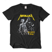 Rock and roll heavy metal products band Metallica Justice for all fashion short sleeve t shirt male loose t shirt