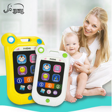 Kids Electronic Music Mobile Phone Baby Early Educational Toy Touch-screen Phone Toys for Children Birthday Gift High Quality