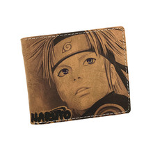 Birthday Gift Cute Cartoon Wallet Naruto Tokyo Ghoul Detective Conan Card Holder Men Wallet  Short Purse Student wallet