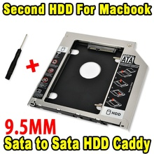 "9.5 mm Aluminum HDD Caddy SATA 3.0 2nd 9.5mm SSD Case HDD Enclosure Optibay for Macbook Pro 13"" 15"" 17"" SuperDrive Optical Bay"