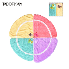 Bowknot Hand Towel Home Kitchen Hygiene Cleaning Cloths Supplies Multifunction Children Hanging Towel Bathroom Absorbent Towels