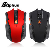 Alphun 2017 New Wireless Mouse 1600DPI 2.4G Gaming Mouse Laser Mouse Gamer Silence Built-in Battery Computer Mice For PC Laptop(China)