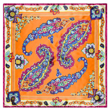 The new large flower side cashew 60cm*60cm women Bohemian style small square scarf  shawl Hijab
