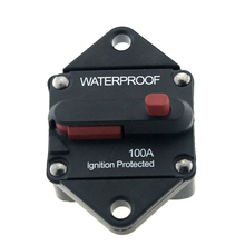 Waterproof 48V DC 100 AMP Car Truck RV Marine Boat Bus Circuit Breaker Manual Reset Circuit Protector Fuse Holder(China)