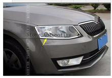 For Skoda Octavia A7 headlights cover Chromium Styling body decoration products accessory 2014 2015 2016 model