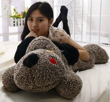 Fancytrader 39'' / 100cm Cute Stuffed Soft Plush Giant Big Sleepy Lying Coffee Dog Toy, Nice Gift For Kid, Free Shipping FT50851