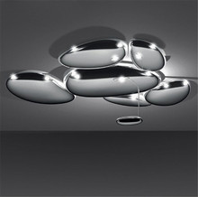 DIY Led Mercury Ceiling Light Luxury Skydro Ceiling Lamp Post Modern Lmininaire Plated Chrome Metal Ceiling Lighting Fixture