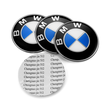 4PCS BMW Wheel Center Cap Logo 65mm Sticker Replacement BMW Badge Emblem E46 E30 E39 E34 E90 E60 E87 M3 M4 F10 F20 F30 1 3 5 X5(China)