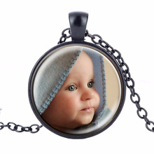 Caxybb Custom Necklace Custom Photo Necklace Photo Gift Your Baby Boy Mom Dad A Gift for Grandpa loved family member(China)