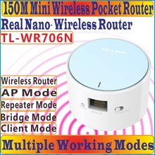 [Chinese Firmware] TP-LINK Portable Wireless Wifi Repeater Network Router Mini AP Router Range Expander With RJ 45 Port WAN/LAN(China)