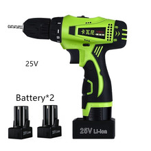 25V Reversible Hand Cordless screwdriver Electric Drill bit Electric screwdriver Torque Drill additional Battery power tool