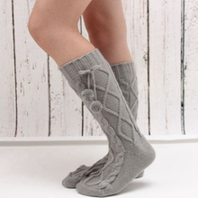 2018 Girls New Fashion Casual Home Soft Bed Floor Socks Knitted Warm Winter Pure Color Leg Warmers Hot(China)