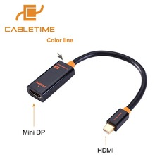 Buy Cabletime Thunderbolt Mini DP HDMI Male-Female 4K Cable Mini Display Port HDMI Adapter PC Macbook Pro Lenovo 4k N020 for $6.78 in AliExpress store