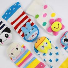 2016 New Lovely Cute Newborn Baby Socks Animal Cartoon Doll Infant Socks Model Anti-slip Boys Girls Socks