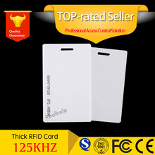 RFID EM Thick card 125khz clamshell contactless rfid Proximity ID Cards EM4100 Thick 1.2mm Safe Access Control Keypad Entry Door