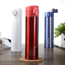 Starbucks Style 380ml stainless steel thermos bottle no leak Vacuum cup travel outdoor office water cup