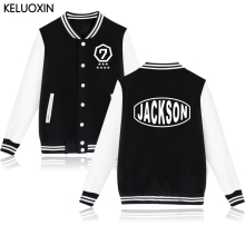 KELUOXIN KPOP GOT7 Baseball Clothing Hip Hop Hoodies Women Sweatshirt JACKSON JB YOUNGJAE JR Streetwear V-Neck Hoody Moletom