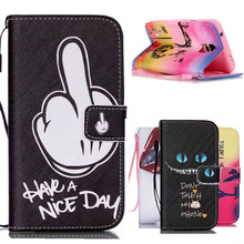 1PCS Hot Colorful Design PU Leather Cell Phone Flip Case Cover For Samsung Galaxy S5 Mini G800 Wallet with Card Slots+Hand Strap