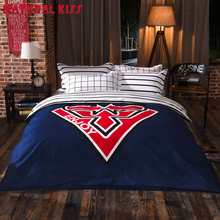 Night cat eyes Bedding Sets Children Duvet Cover Crown Bedspread Sets Pillowcase Home Textile Bedroom Full/Queen size Bed Set