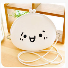 kawaii smile Silicone shoulder bags coin purse adorable expression lovely soft mini clutch women wallets fashion girls key bag