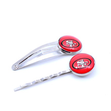 San Francisco 49ers Charm Women Hairpin Girls Hair Grips Kids Hair Clips Accessories Baseball Jewelry Fashion 2017(China)