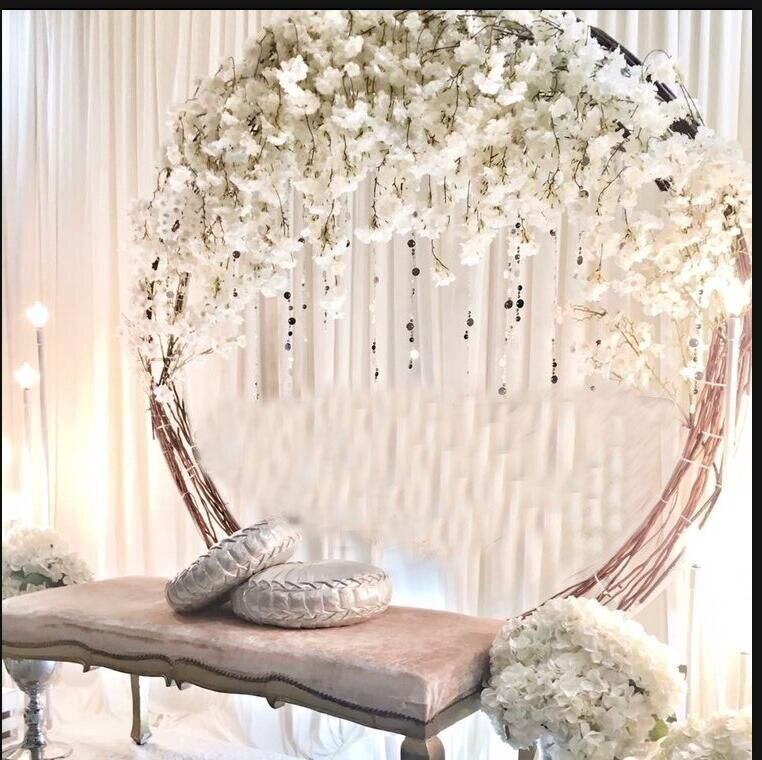 Flower Door Ring Iron Wedding Arch Props Background Circle Outdoor Lawn Wedding