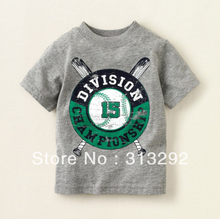 BJS84, Baseball, 6pcs/lot, Baby Children T shirt, 100% Cotton short sleeve Tee for 1-5 year.