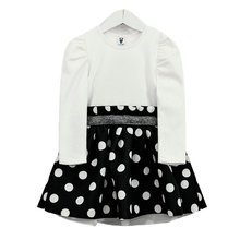 Girls Spring Dress Long Sleeve Dots Casual Mini Dress Baby Children Girls Fashion lovely Princess Dress Korean Style