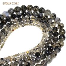 AAA+ Quality Black And White Lines Natural Beads Agat  Chalcedon  Diy Bracelet Necklace 6/8/10/12mm Free Shipping Wholesale