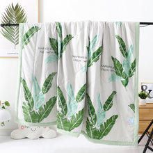 2019 New Bedding Tropical Plant Thin Summer Quilt Aircondition Blankets Leaves Comforter Bed Cover for Adults Kids Home Textiles(China)
