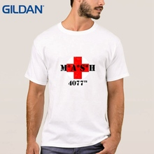 Creature t shirt Classical M*A*S*H 4077th Heather Military Green Red Cross M*A*S*H black tee shirts men cotton(China)