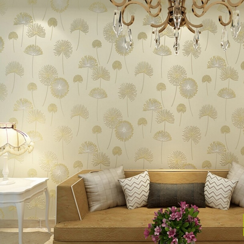 wallpaper 3D wallpaper roll embossed texture fashion non-woven floral flower papel de parede listrado for living room background<br>