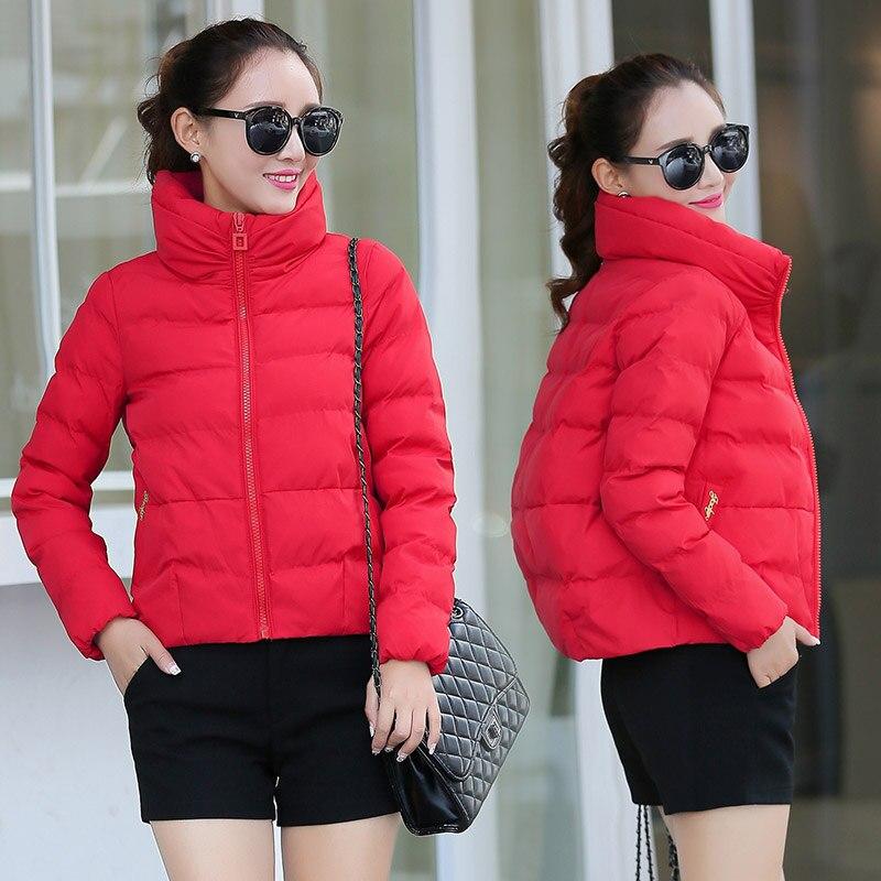 Winter short version straight zipper jacket women casual solid color thickened turtleneck cotton padded coat women parkas MF3Îäåæäà è àêñåññóàðû<br><br>