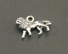 Free Shipping 10pcs Antique Silver Lion Charm Pendant DIY Necklace Jewelry Findings 9x14mm A1292(China)