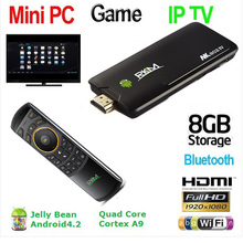 Rikomagic MK802 IV Tv Box Android 4.2 Quad Core RK3188 2GB/8GB A9 1.8GHz MINI PC TV + MK705(China)
