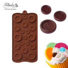 FILBAKE Lovely Design Cake Cookie Fondant Chocolate Silicone Mold Mould Baking Tray Button Shape Cake Decoration Mould(China)