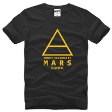 30 Thirty Seconds To Mars 30STM Rock T Shirt Men Summer Short Sleeve O Neck Cotton Men's T Shirt Fashion Music Rock Male Top Tee