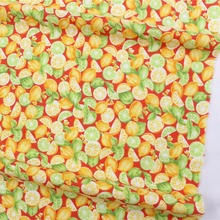 16712-4F,50cm * 150 cm fruit cartoon series cotton fabrics, making cushions cushion, children's clothing, bedding.(China)