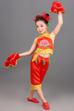 Buy New Children Performances Clothing Girls Chinese Folk Dance Yangko Dance Costumes Children's Dance Clothes for $21.36 in AliExpress store
