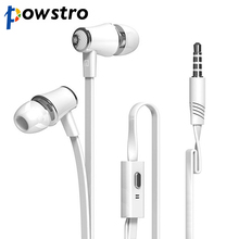 3.5mm In-ear Earphones Super Bass Metal Earphone Earbud Mic Headset Noodles Cable 1.2m Loudly for iPhone Samsung etc