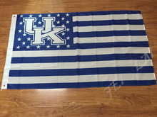 NCAA Kentucky Wildcats Stars & Stripes Large Outdoor Nation Baseball Flag 90x150cm metal grommets