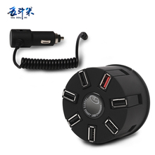 WUDOUMI Exclusive USB HUB Charger 7 ports Car / Wall Charger 2 in 1 for Smartphone Tablet(China)