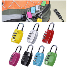 Security 3 Combination Travel Suitcase Luggage Bag Code Gym Lock Padlock Red/Yellow/Green/Blue/Black/Rose Red/Silver Gray Locks