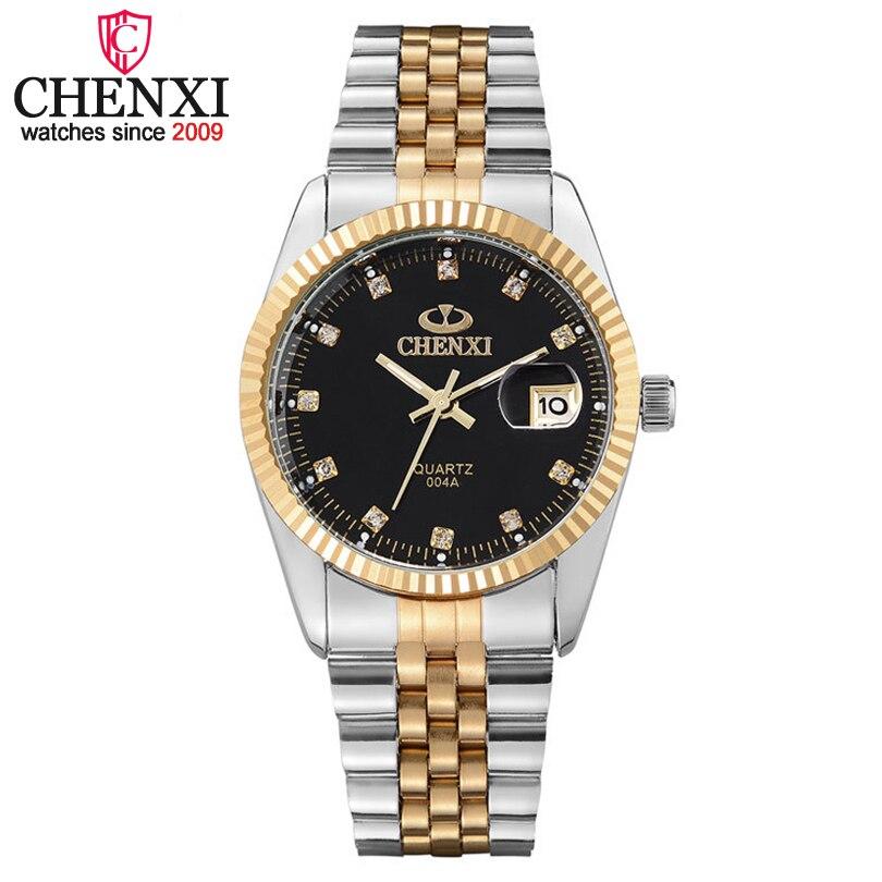 Chenxi Luxury Brand Men Business Watch Mens Stainless Steel Date Hour Gold Wristwatch for Male Quartz Clock Waterproof Watches<br><br>Aliexpress
