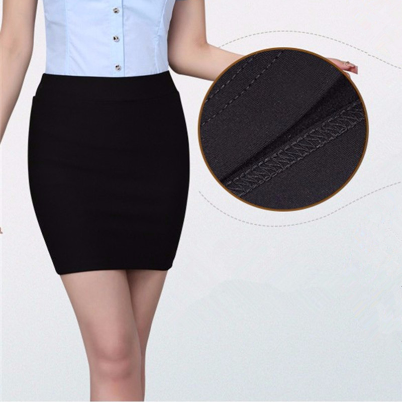 S-3XL High Quality Skirts summer Autumn Casual Women High Waist Elegant Knitted Pencil Skirt Elegant slim short skirts womens(China)