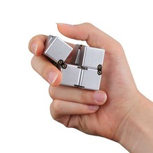 Buy 2017 Creative Infinite Cube Decompression Fidget Toy Infinity Turn Spin Cube Antistress Resistance Anxiety Stress Reduce TY for $4.96 in AliExpress store